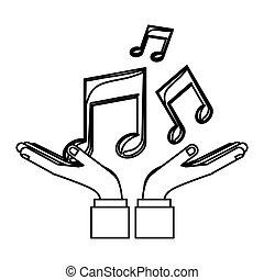 symboles, notes, musique