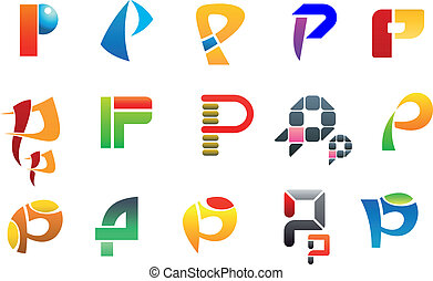 symboles, p, lettre