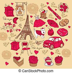 symboles, paris, ensemble
