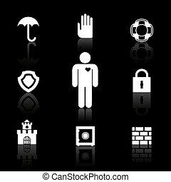 symboles, sécurité, assurance