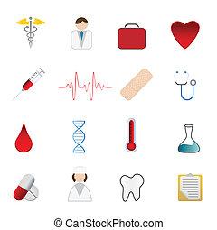 symboles, santé médicale, soin