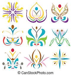 symboles, santé, richesse, spa