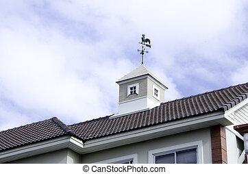 Symboles, surface, direction, yard, décorer, grenier, toit,...