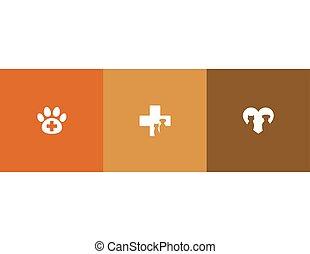 symboles, vétérinaire, soin