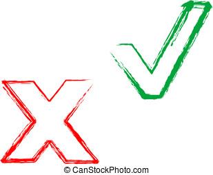 symboles, validate, décliné