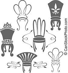 symboles, vendange, meubles