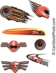 symboles, voiture courir, motorsport