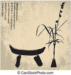symboles, zen, silhouette