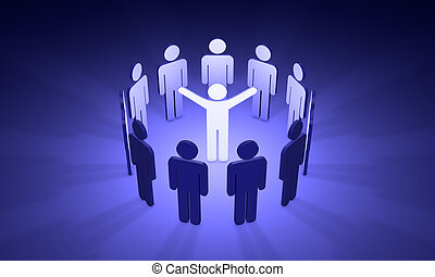 (symbolic, agitateur, figures, people), agitation