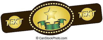 Symbolic championship belt for various sports.