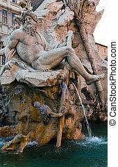 Symbolic figure of the River Ganges - Fontana dei Quattro...