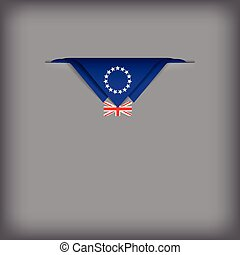 Abstract image the state flag of Cook Islands. Vector illustration.