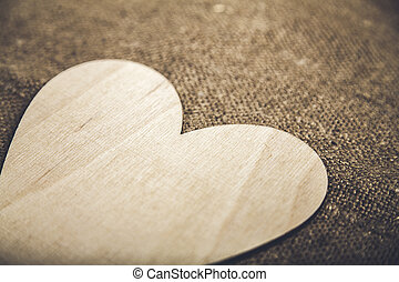 Symbolic heart lies on a background, with place for your text