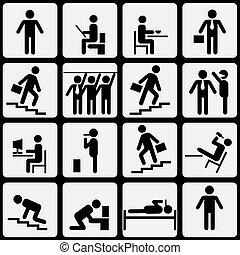 Symbolic life of human.Vector eps10
