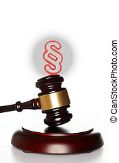 symbolic paragraph with gavel
