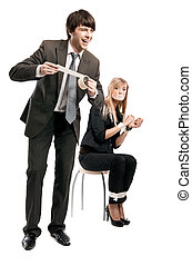 Symbolic photo of relationships at office work