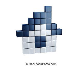 symbolic pixel house