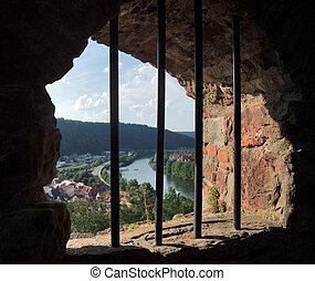 window at Wertheim Castle