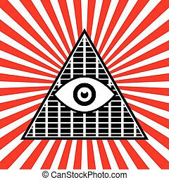 Symbolic Pyramid Graphics with The All-seeing Eye      Symbolic Pyramid Graphics with The All-seeing Eye
