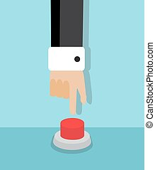 symbolic red button