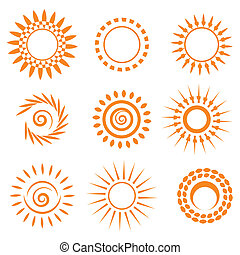Symbolic sun set. Vector illustration