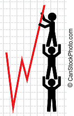 Symbolical image of lifting - Vector illustration, color...