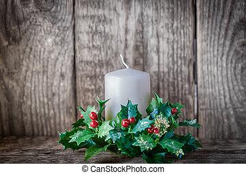 symbolika, świeca, wliczając w to, boże narodzenie