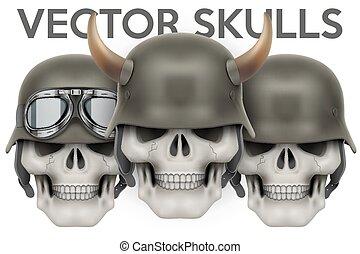 symbolika, hełm, biker, czaszki, rogi
