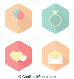 symbolika, infographic, ikony, ślub