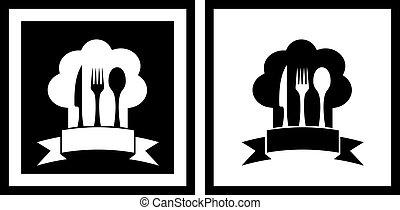 symbolika, komplet, restauracja