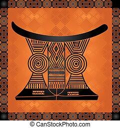 symbolika, krajowy, kulturalny, afrykanin