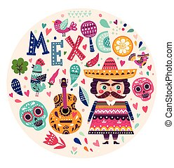 symbolika, od, meksyk