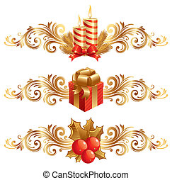 symbolika, wektor, ozdoba, boże narodzenie, &