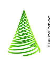 symbolique, arbre, noël, 3d