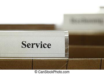 symbolique, carte, service