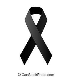 symbolique, noir, ruban