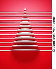 symbolisch, baum, weihnachten, 3d