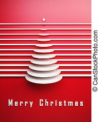 symbolisch, weihnachten, 3d, baum
