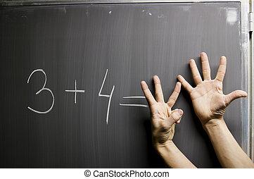 Symbolize wrong answer on mathematic formula - Hands...