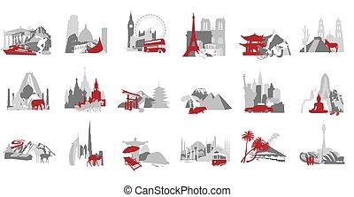 symbolizing, miniatúrák, állhatatos, ország