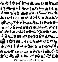 symbolizing, silhouettes, ensemble, wint