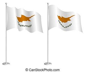 symbols., 白, 共和国, flagpole, 地図, チェックポイント, 振ること, 休日, 背景, ベクトル...