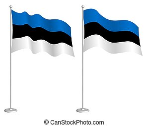 symbols., 白, flagpole, 地図, チェックポイント, 振ること, 休日, 背景, ベクトル, ...