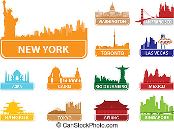 Symbols city. Vector illustration for you design