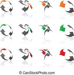 symbols., compañía, conjunto