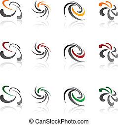 symbols., compagnie, ensemble