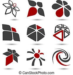 symbols., ditta, set
