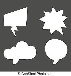 symbols., ensemble, bubble., illustration, vecteur, parole, penser, nuage