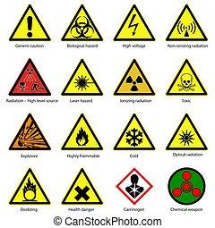 symbols., ensemble, danger