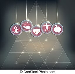 Symbols how to maintain healthy Cardiovascular system